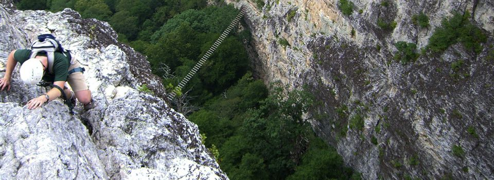 Climber over Bridge (very good photo)